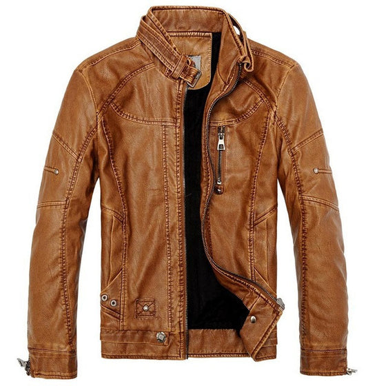 Fleece Leather De Couro Jacket