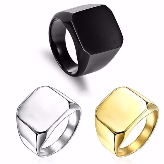 "Vnox ""Simple yet Elegant"" Men's Ring"