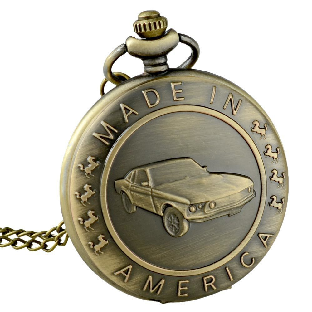 Vintage Car Pocket Watch Necklace