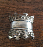 Antique Silver Plated Scroll Napkin Ring