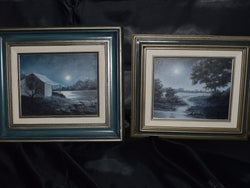 Pair of Sadie Cansler Oil Paintings, Framed