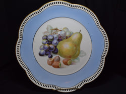 Schumann Porcelain Plate with Painted Fruit