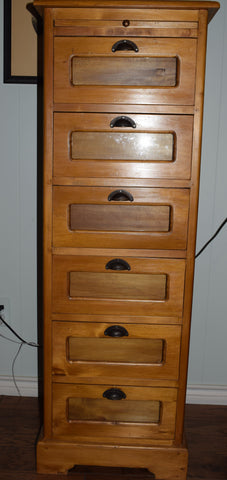 Early 20th Century 6 Drawer Seed Cabinet
