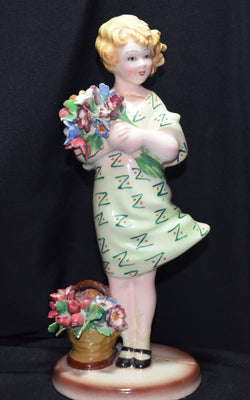 Italian Porcelain Girl Figure Photo