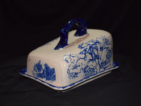 "Staffordshire Flo Blue Cheese Dish ""Victoria"""
