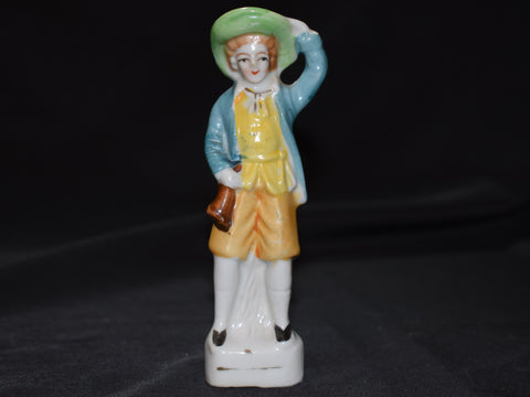Boy Holding Onto His Hat Figure - Made in Occupied Japan