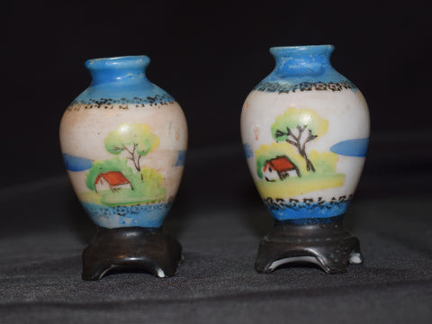 Porcelain Vases Made In Occupied Japan Collectibles Clearinghouse
