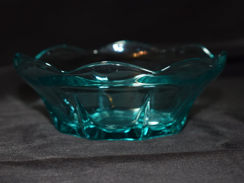 Fostoria Style Blue Glass Bowl Photo