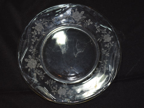 Vintage Clear Etched Plate