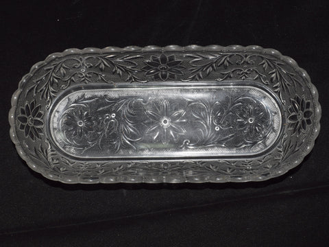 Clear Pressed Glass Boat Dish Photo