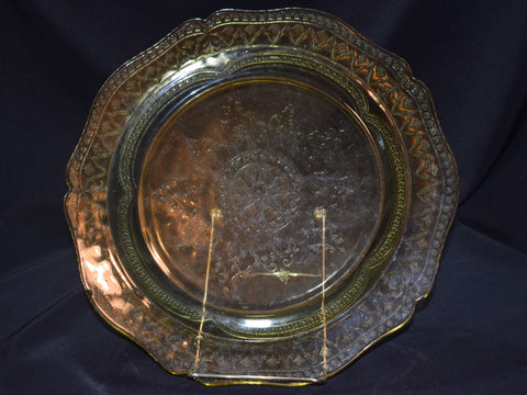 Amber Depression Glass Plates Photo