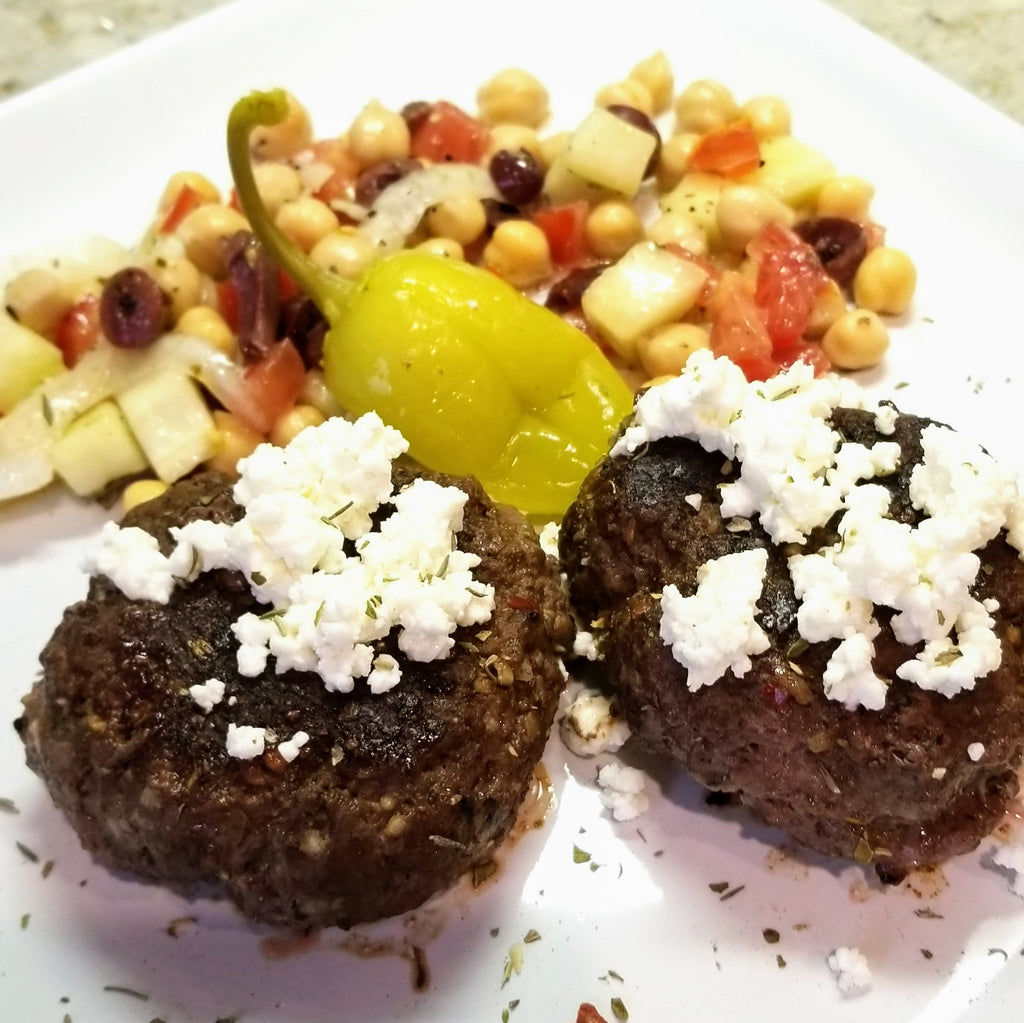 Greek Burgers with Feta