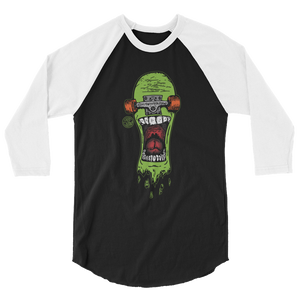 """Screamer"" 3/4 sleeve raglan shirt"
