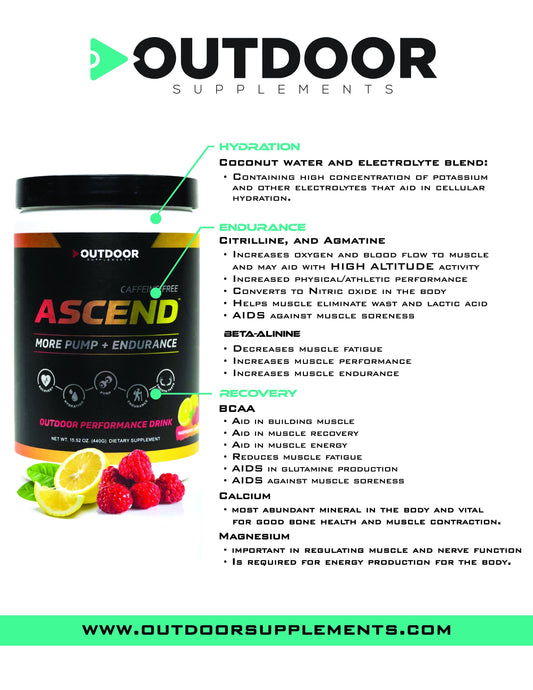 Ascend - Caffeine Free - The OUTDOOR Performance Drink