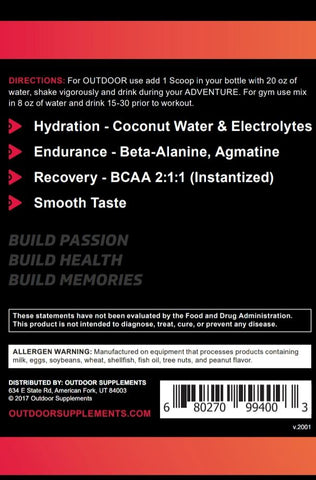 Ascend - No Caffeine With More Endurance & Pump - OutdoorSupplements