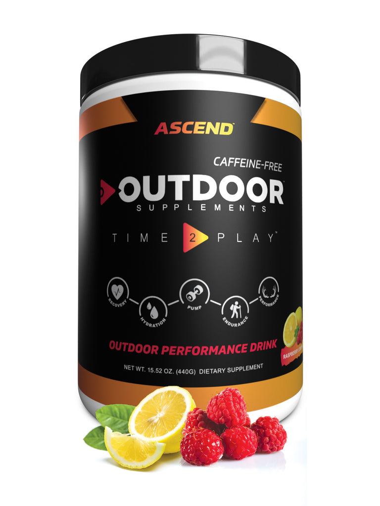 Ascend - Caffeine Free  Energy Drink for workout and outdoor performane/adventure in Raspberry Lemonade Flavour - OutdoorSupplements