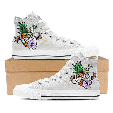 Pineapple Vegan Hightop Shoes