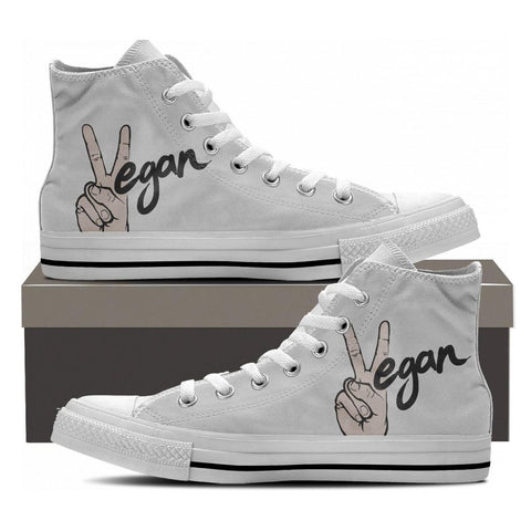 Vegan Peace Hightop Shoes