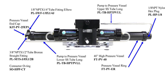 Clark Pump to Pressure Vesseol SS Tube (Lower) Long