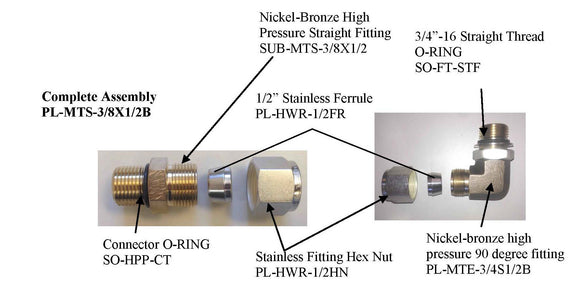 Nickel-Bronze High Pressure Straight Fitting