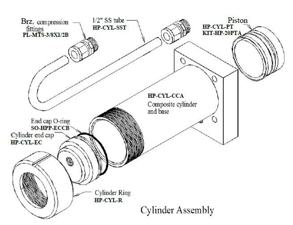 Composite Cylinder and Base