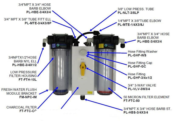 Low Pressure Filter Housing (Clear)