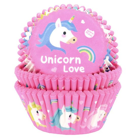 Muffinform med unicorn love - 50 stk