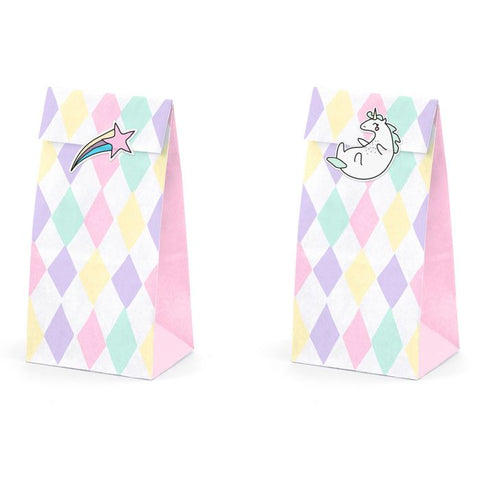Unicorn Treat Bags 6 stk