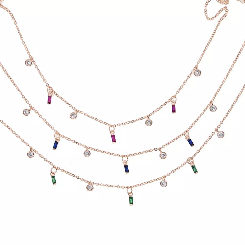 Sexy Lady - 7 Beaded Dangle Necklace
