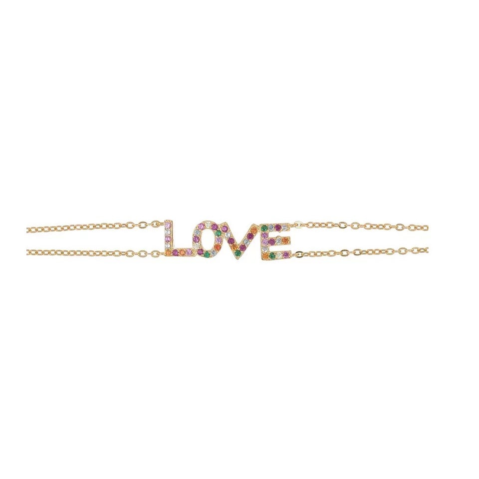 CHARISMA - 18K Gold Plated Multi Color Dainty Bracelet