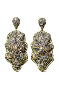 18k Yellow Gold plated Statement Earrings,Bridal Jewelry