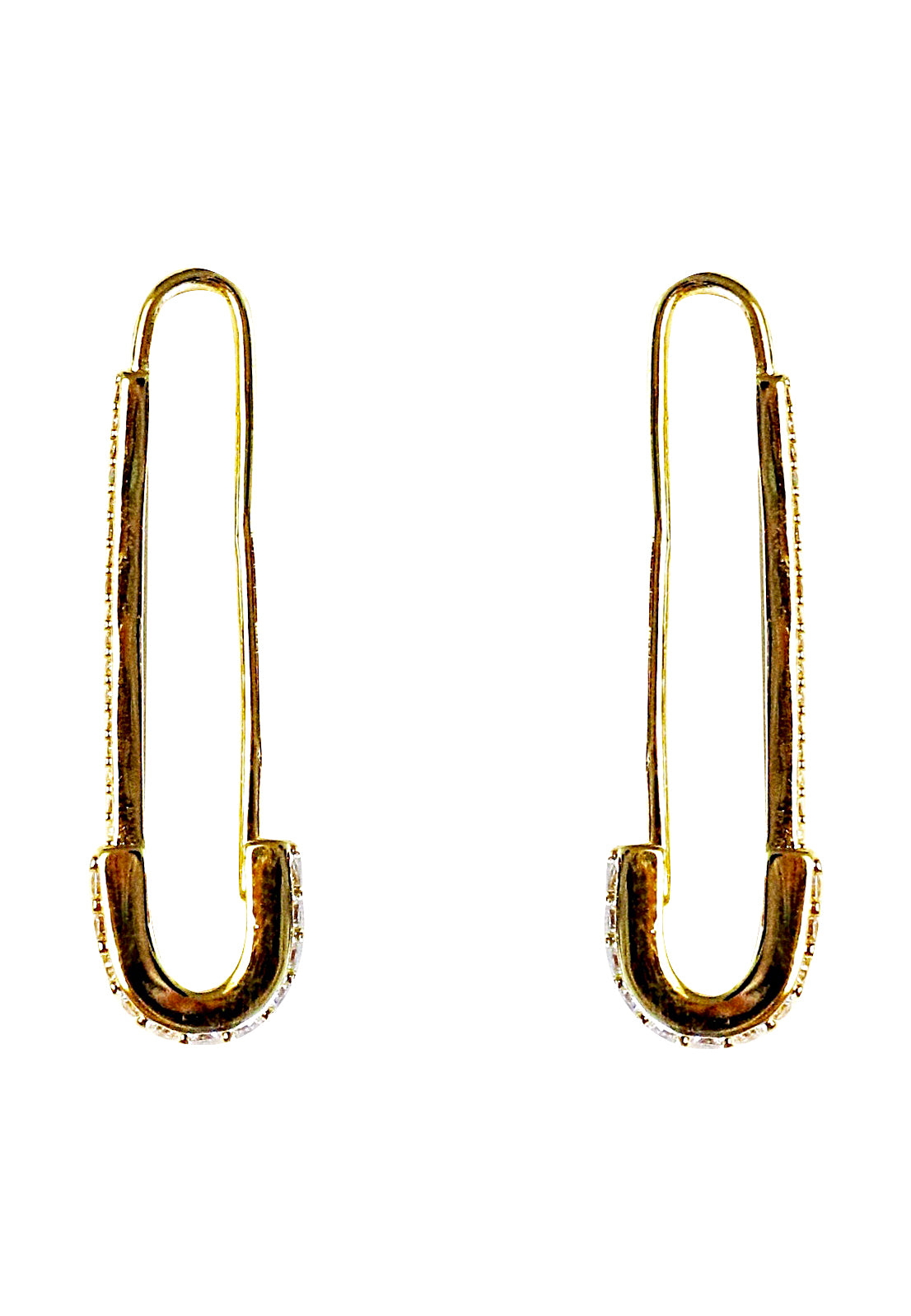 18k yellow gold-plated Pin earrings