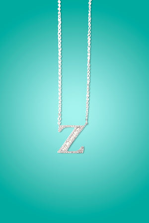 IM ON FIRE - 18K Gold Plated Shinny Crystal Initial Necklace
