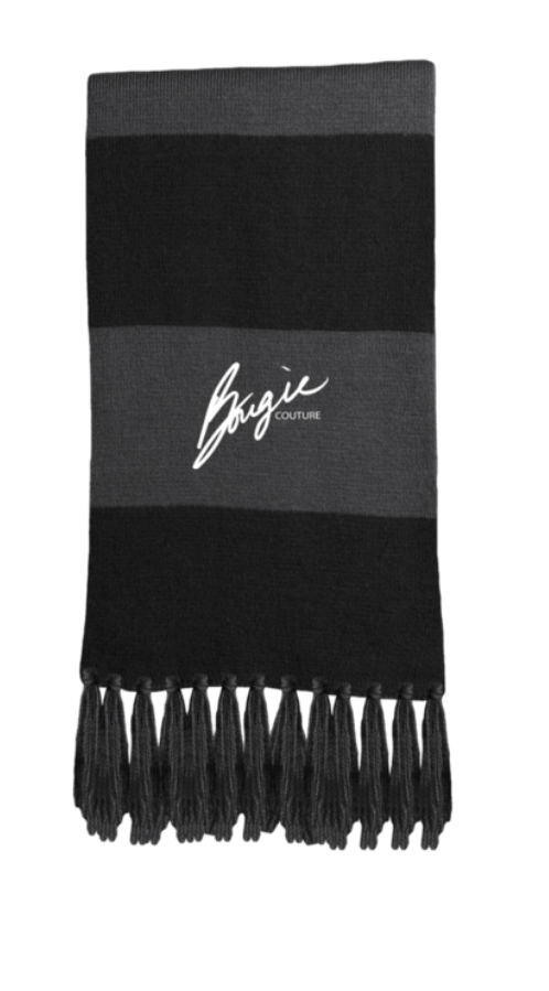 104b6218abb BOUGIE  Black   Grey Fringed Scarf – Bougie Couture