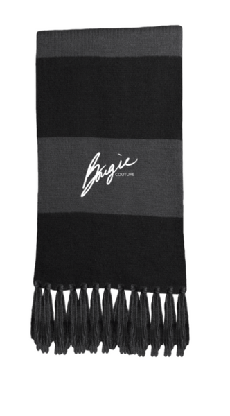 212d7ca87b2  BOUGIE  Black   Grey Fringed Scarf – Bougie Couture