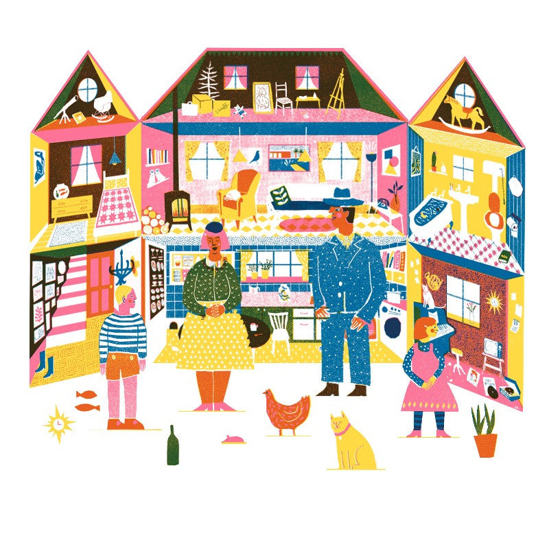 Printed Peanut Paper Doll's House