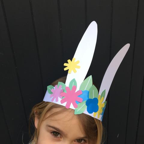 Spring time bunny ears - You'll just need glue and scissors!