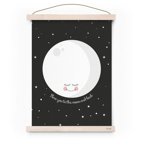 eef lillemor love you to the moon and back poster