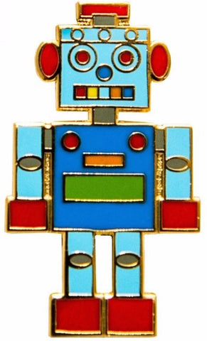 acorn and will enamel robot pin