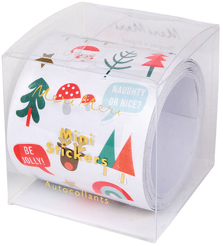 meri meri mini christmas sticker roll