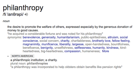 Definition of Philantropy