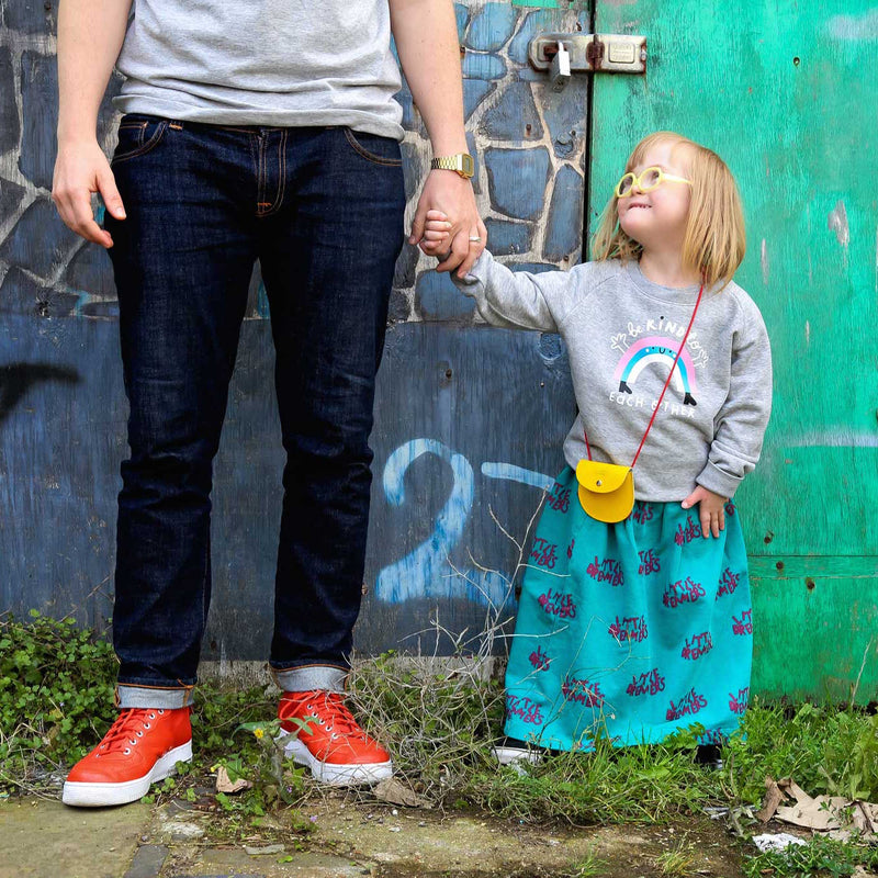Kids Rainbow Sweatshirt - Grey - The Kindness Co-Op Children's Clothing & Gifts
