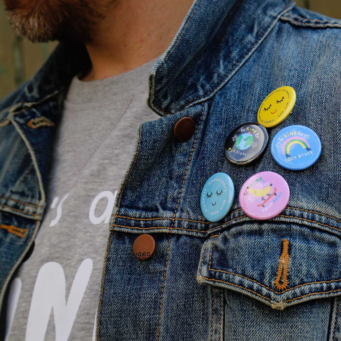 Rainbow Button Badge - The Wee Store Brighton Children's Clothing & Gifts
