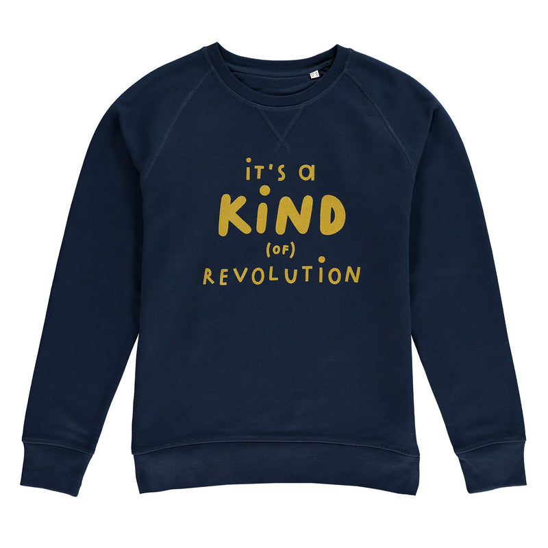 Adults It's A Kind (of) Revolution Sweatshirt - Navy / Gold - The Wee Store Brighton Children's Clothing & Gifts