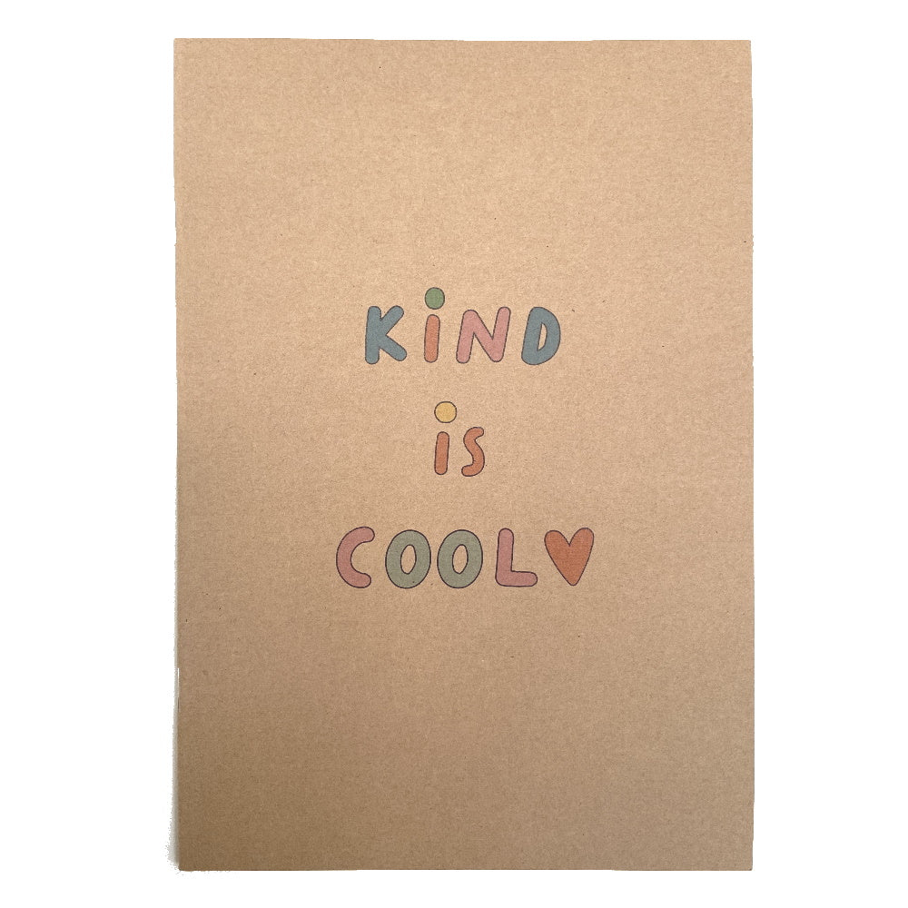 Kind Is Cool Recycled Notebook