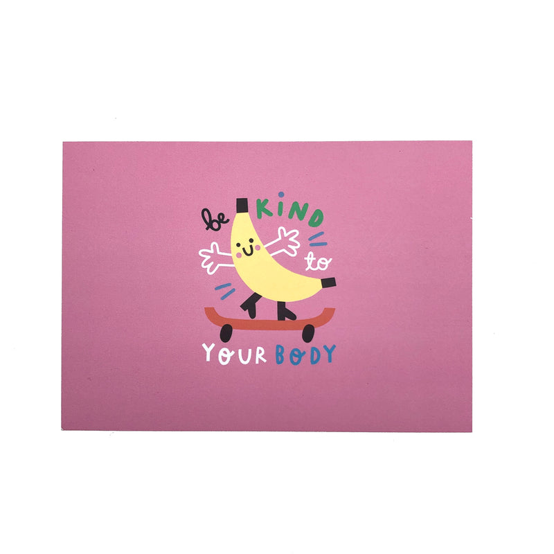 Be kind to your body postcard - The Kindness Co-Op Children's Clothing & Gifts