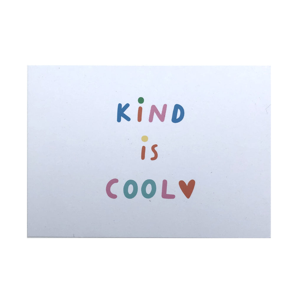Kind is cool postcard