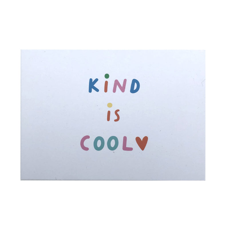 Kind is cool postcard - The Kindness Co-Op Children's Clothing & Gifts