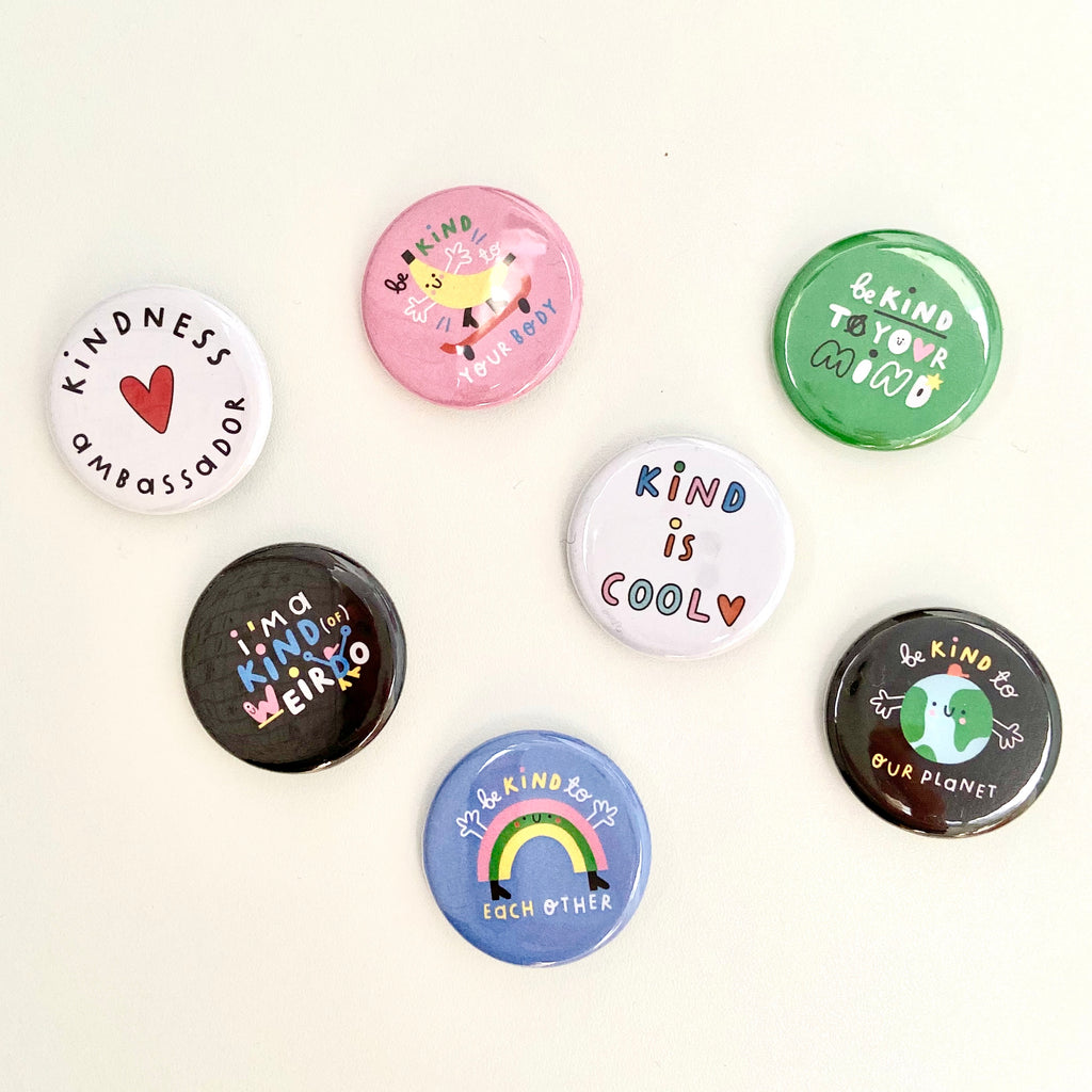 Kindness Ambassador Button Badge - The Kindness Co-Op Children's Clothing & Gifts