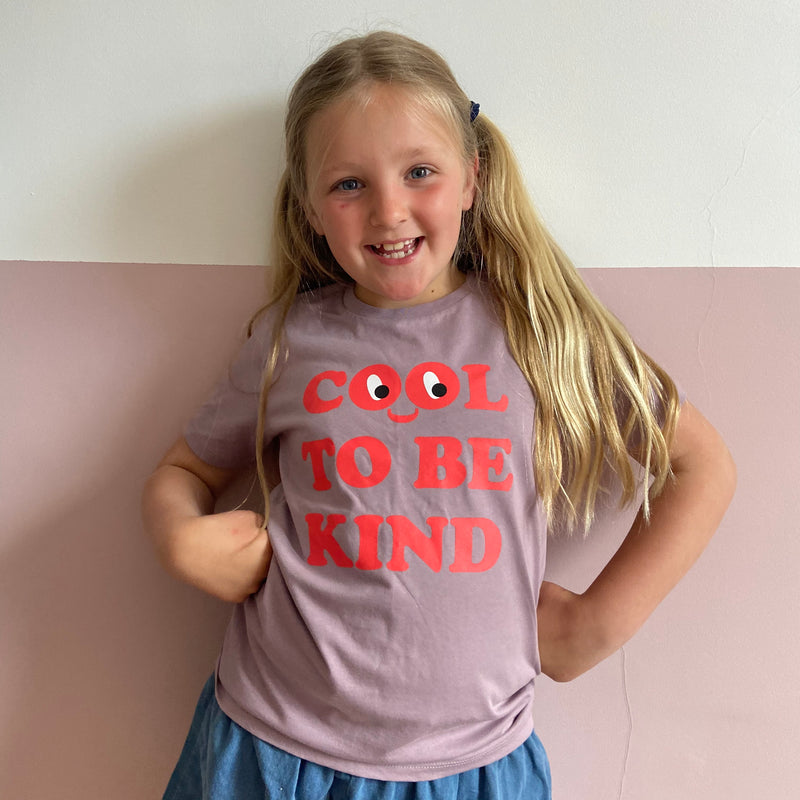 Kids Cool To Be Kind T-shirt - Lilac